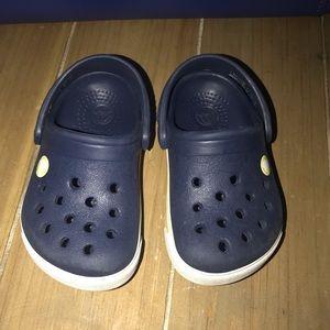 Navy Crocs